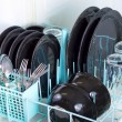 Dishwasher rack. — Stock Photo
