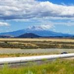 Mount Shasta valley panorama, North California, USA — Stock Photo