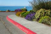 Rode beteugelen met geen teken van het parkeren — Stockfoto
