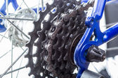 Bicycle rear sprockets close-up. — Stock Photo