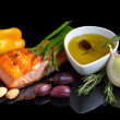 Mediterraneomega-3 diet. — Stock Photo #30878703