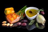 Dieta śródziemnomorska omega-3. — Zdjęcie stockowe