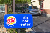 SACRAMENTO, USA - SEPTEMBER 13: Burger King drive through on Sep — 图库照片