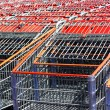 Foto Stock: Shopping cart background.