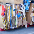 SACRAMENTO, USA - SEPTEMBER 19: Cardboard trash on September 19, — Stock Photo