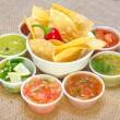 Salsa bar. — Stock Photo