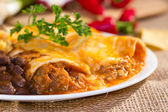 Southwest beef enchilada. — Stock Photo