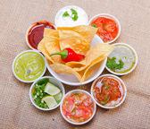 Salsa bar. — Stockfoto