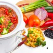 Beans cooked in slow cooker. — Stock Photo