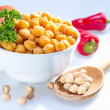 Cooked garbanzo beans. — Stock Photo #34792521