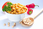 Cooked garbanzo beans. — Stock Photo