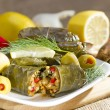 Grape leaves stuffed with rice. — Stock Photo #35103951