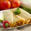 Mexictamales on plate. — Stock Photo #35104567