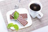 Sanduíche de sorvete — Foto Stock