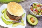 Grilled portabella burger. — Stock Photo