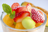 Frozen fruit salad — Stock Photo