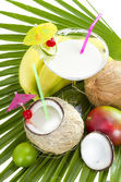 Coconut cocktail. — Stock Photo
