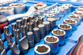 Socket wrench toolbox — Stock Photo