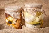 Cheese in marinade — Stock Photo