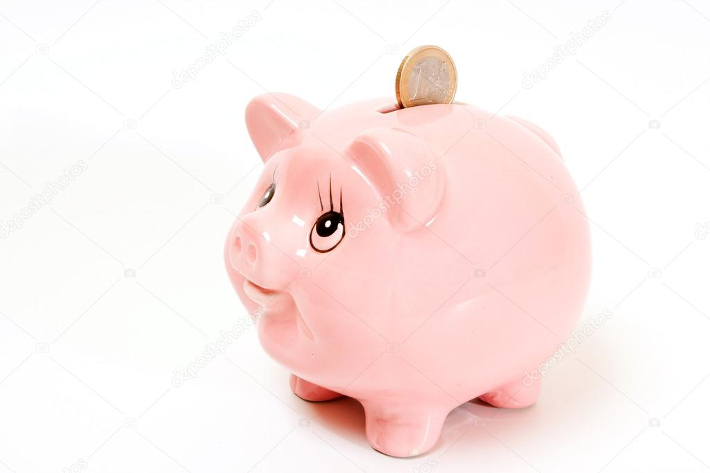 粉红色的猪钱框