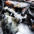 Close up photo of a burned out car — Stock Photo #39843557