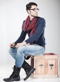 Attractive man posing in the studio — Stock Photo