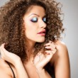 Stok fotoğraf: Pretty girl with curly hair
