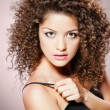 Pretty girl with curly hair — Stock Photo #21451157