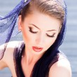 Very beautiful model wearing make-up — Stock Photo #21456635