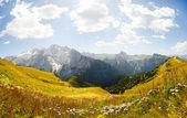 Beautiful mountain panorama - marmolada glacier - high resolutio — Stock Photo