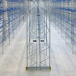 Inside empy warehouse — Stock Photo