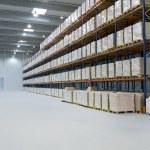 no interior do armazém — Foto Stock