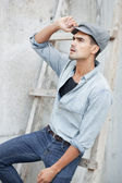 Attractive man well dressed — Stock Photo