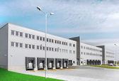 Warehouse whith loading docks — Stock Photo