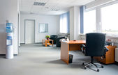 Office interior - small and simple — 图库照片
