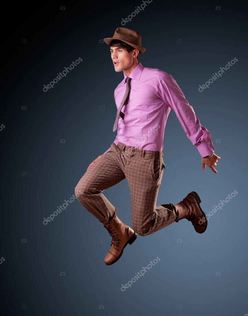 Male Model Jumping 52