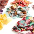 Scarf collection isolated on white — Stock Photo #29351241