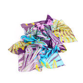 Colorful summer scarf isolated on white — Stock Photo