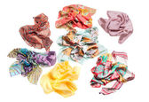 Scarf collection isolated on white — Stock Photo