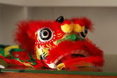 Miniature Lion Dragon Dance Heads — Stok fotoğraf