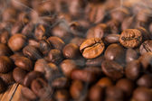 Roasting coffe with smoke — Stock Photo