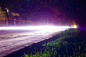 Highway Light Trails Long Exposure Landscape Orientation — Stock Photo