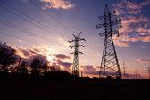 夕阳工业景观 — 图库照片