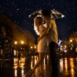 Kiss in the moonlight. Raster — Stock Photo