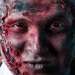 Portrait of scary bad zombie at night — Stock Photo
