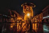 Liebe im regen — Stockfoto