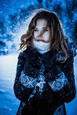 Winter girl — Foto de Stock