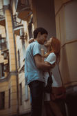 Happy young couple in love — Stockfoto