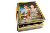 Dois livros sobre pintura sobre um fundo branco — Foto Stock
