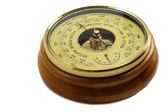 Barometer - aneroid on a white background — Stock Photo